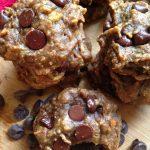 Vegan Flourless PB Chocolate Chip Cookies