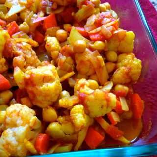 Cauliflower Curry Chickpea Stew