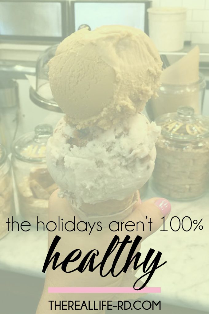 It's okay that your plate isn't just kale and quinoa during the holidays. | The Real Life RD