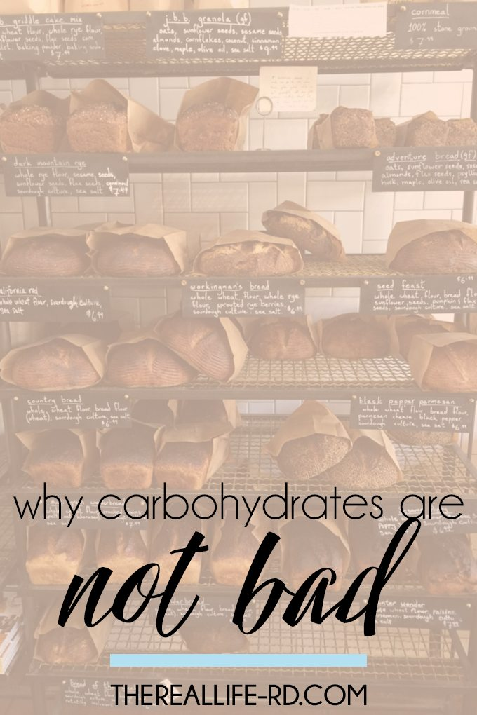 Carbs are NOT the devil, despite everything you've heard. | The Real Life RD