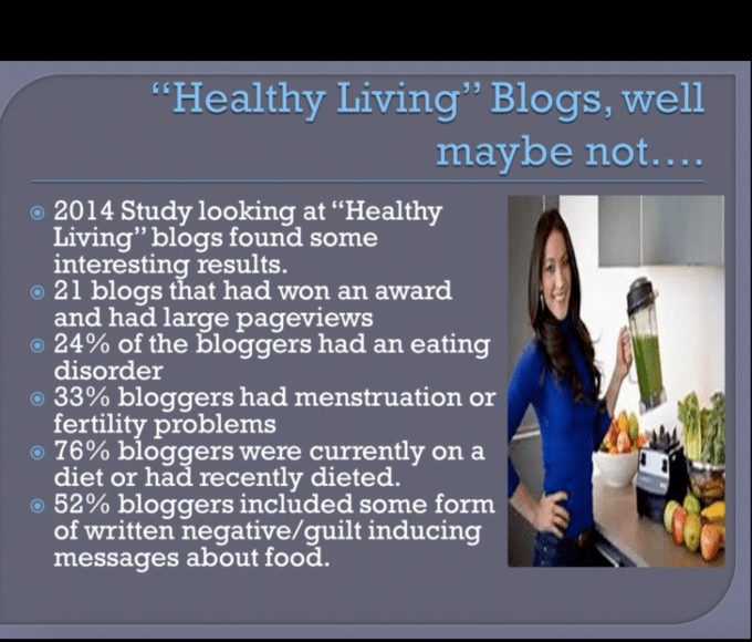 healthy living blogger