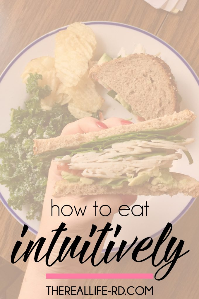 A great guide for beginning intuitive eating! | The Real Life RD
