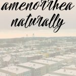Healing Amenorrhea Naturally {Q&A}