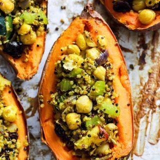 Quinoa Stuffed Sweet Potatoes