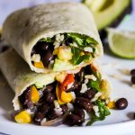 5 Minute Black Bean Wraps