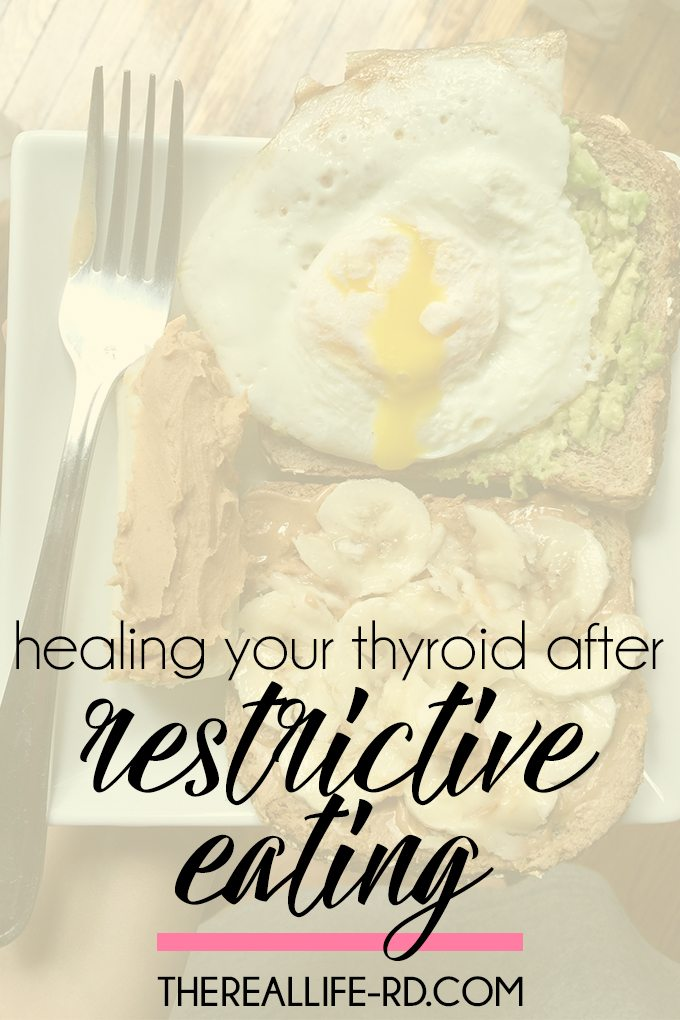 Whether you had an eating disorder or struggle with patterns of restrictive eating, your thyroid may not be working quite right. | The Real Life RD