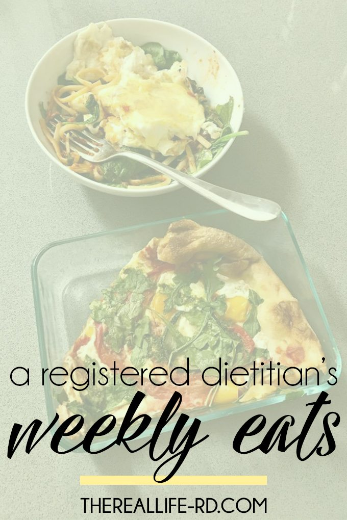 Pizza, veggies, toast, and everything in between. Oh, and ice cream, of course. An RD/RN's weekly eats! | The Real Life RD