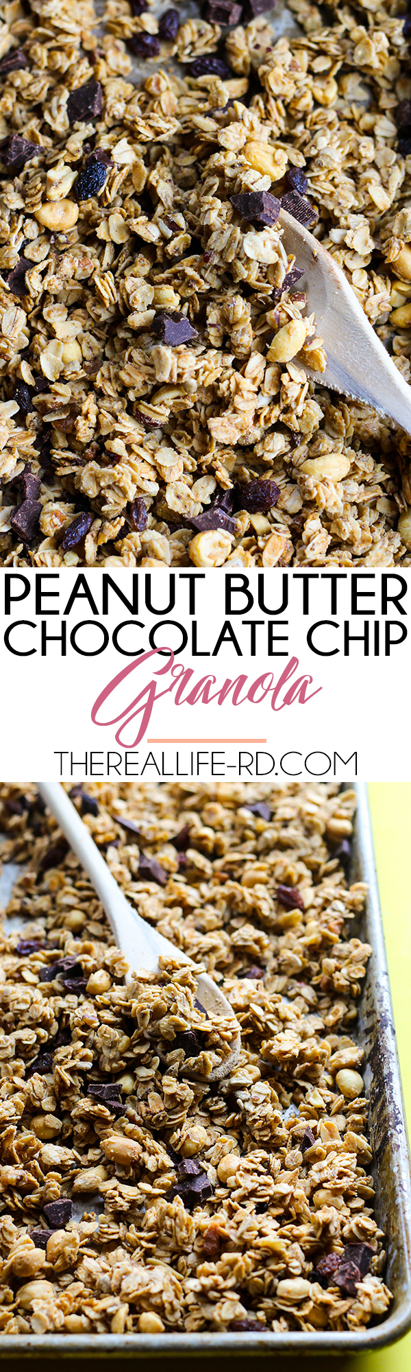 Easy & delicious peanut butter chocolate chip granola! | The Real Life RD