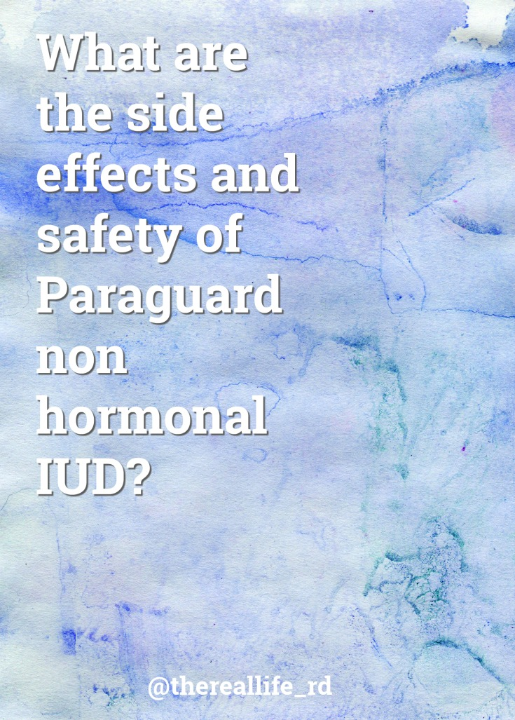 Paraguard IUD side effects
