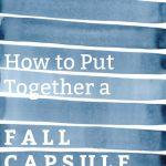 Fall Capsule Wardrobe {on a budget}