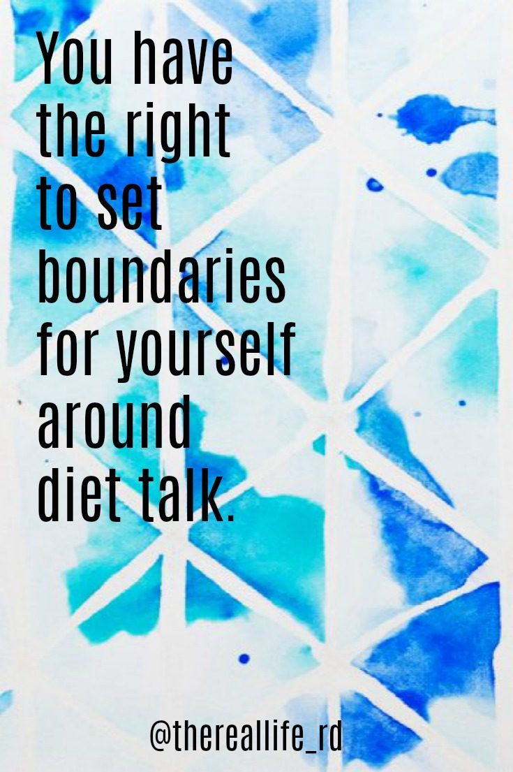 diet talk boundaries