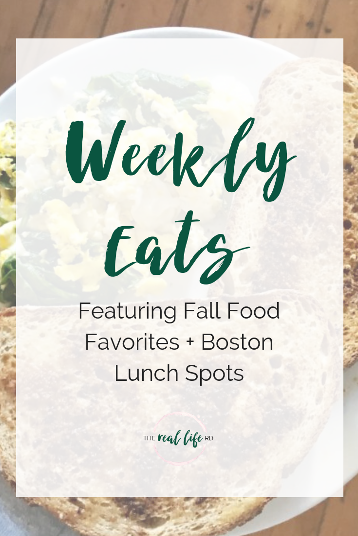 Featuring Fall Food Favorites + Boston Lunch Spots